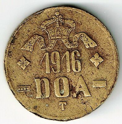 GERMAN EAST AFRICA 20 HELLER WIHELM II COIN SMALL CROWN POINTED TIPS ON L's