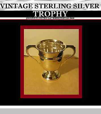 ANTIQUE STERLING SILVER TROPHY - JOSEPH GLOSTER Ltd  BIRMINGHAM 1968