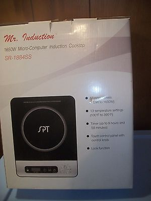 Mr. Induction SR-1884SS 1650W Induction Cooktop with Control Knob