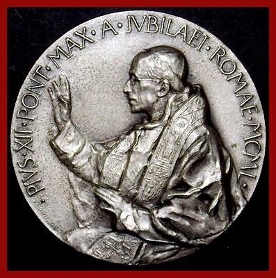Religious/ Pope Pius XII/ Pont.Max./ Anno Jubilaei/ MCML/ Rome/ SILVER MEDAL