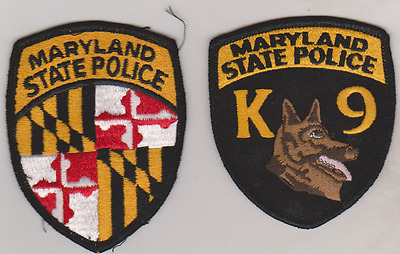 Maryland State Police & K9 patches
