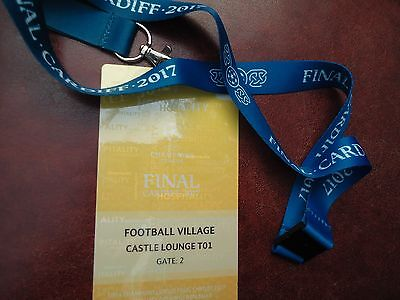 TICKET Pass gelb Keyholder UEFA CL Finale 2017 Juventus Turin - Real Madrid # 2