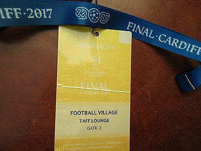 TICKET Pass gelb Keyholder UEFA CL Finale 2017 Juventus Turin - Real Madrid # 3