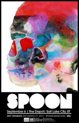 SPOON 2017 SALT LAKE CITY CONCERT TOUR POSTER - Indie Rock/Pop, Art Rock Music