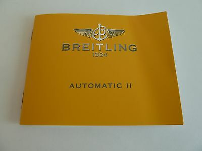 Breitling Automatic II - Booklet -