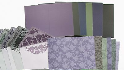 SALE Pearlescent Vintage Cards,Inserts & Lined Envelope Kit Create & Craft