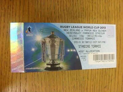 08/11/2013 Ticket: Rugby League, World Cup, New Zealand v Papua New Guinea [At L