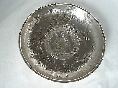 Chinese Export Coin Dish Sterling Silver Circa 1920