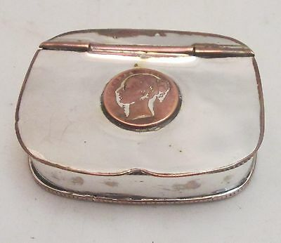 A Good Old Sheffield Plate Snuff Box - c1850 - Young Victoria Head