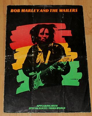 Bob Marley - Original Tour Programme 1974 - Third World - Reggae Scarce
