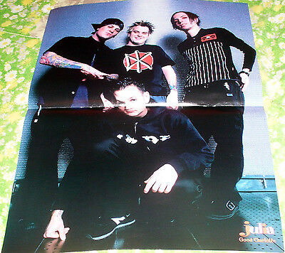 Sweden Centerfold Poster With Good Charlotte From Julia Magazine