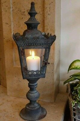 Antique French Vintage Style Large Lantern Candle Holder Home or Garden