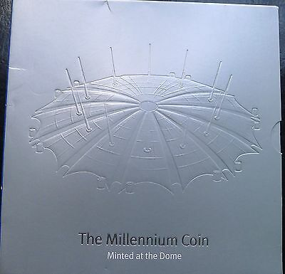 Five Pound £5 1999 2000 Millennium Dome MIntmark Official Royal Mint Pack