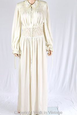 Vintage 30s 40s Hollywood Glamour Sensual Nightgown Lingerie Lace Robe Sz S