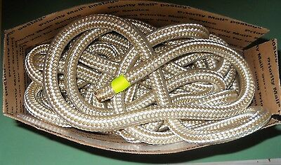 "5/8"" x 100' Gold & White Doublebraid Nylon Rope w/ Each Bitter End Whipped"