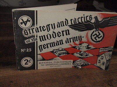 1944 STRATEGY & TACTICS OF THE MODERN ARMY number 25 BERNARDS PANZER NAZI