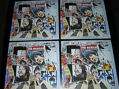 4 Beatles Promotional 12X12 Cards - Best Of
