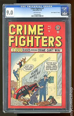 "Crime Fighters (1948 Marvel) #7 CGC 9.0 Davis Crippen ""D"" Copy 0745266005"