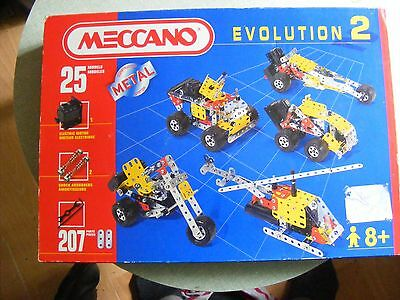 Meccano 030502 Evolution 2/ 25 Models 207 Pieces With Motor  £20.00 Buy-It-Now