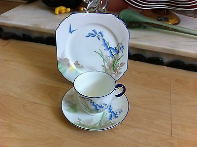 VINTAGE 1930-2 SHELLEY EMPIRE SHAPE BLUEBELL & BUTTERFLY 11767 PATTERN no TRIO