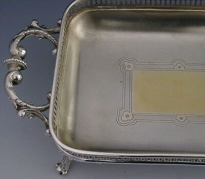 SUPERB ANTIQUE GERMAN 800 SOLID SILVER PIERCED DISH/TRAY c1880-1890 ANTIQUE 252g