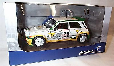SOLIDO 1/18 RENAULT 5 Maxi Turbo - Rallye des Garrigues 1986 185000 New in Box