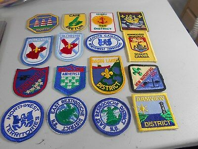 (Yj7-R) Sixteen Different Listed Atlantic Canadian Scout Badges
