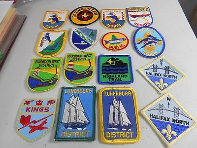 (Yj9-R) Sixteen Different Listed Atlantic Canadian Scout Badges
