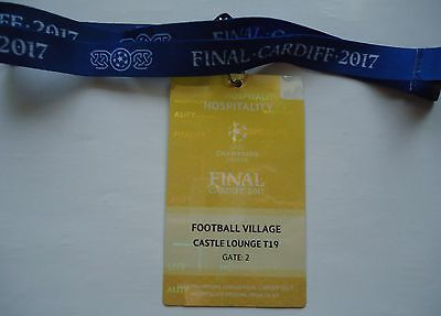 TICKET Pass gelb Keyholder UEFA CL Finale 2017 Juventus Turin - Real Madrid # 4