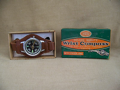 Vintage Working WFS Wrist Compass And Box 1960s