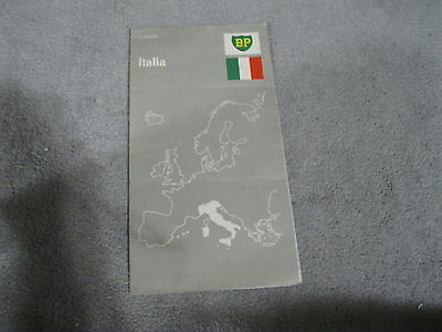 """VINTAGE 1970'S BP GAS & OIL FOLD OUT MAP OF ITALY - 42"""" by 24"""" OPENED UP"""