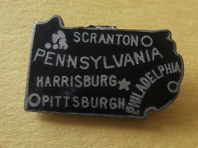 Pennsylvania Lapel Pin in the shape of the State