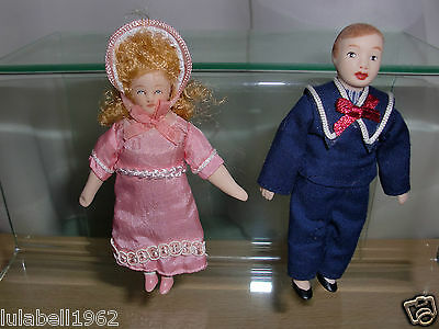 1/12 12th scale Dolls House Porcelain Doll Children Child Boy Girl Victorian
