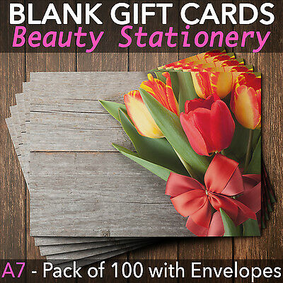 Gift Voucher Cards for Massage/Beauty/Nail/Hairdressers - x100+FREE Envelopes T
