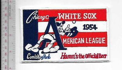 Beer Baseball Chicago White Sox & Hamm's Beer AL Comiskey Park 1954 Promo Patch