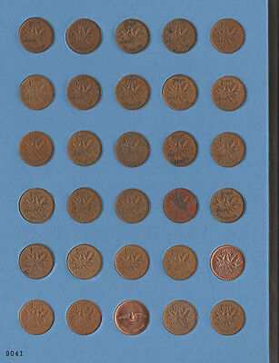 1940-2006 Canadian Cents Pennies 67 Coins Canada All Years Complete Collection!