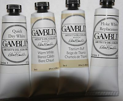 Gamblin Oil Paint-WARM WHITES SET- series 1