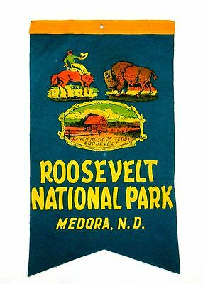Old Roosevelt National Park North Dakota Souvenir Travel Pennant  msc6