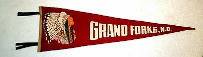Grand Forks North Dakota 1940s Vintage Souvenir Travel Pennant msc6