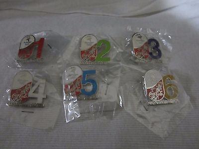 Coca Cola COKE Months to Go Sydney 2000 Australias Olympic Games 6Countdown Pins