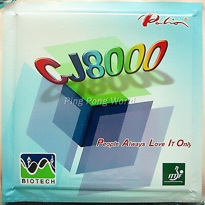 2x Palio CJ8000 BIOTECH 42-44° Pips-In Rubber with Sponge 2.2mm NEW 1Red+1Black