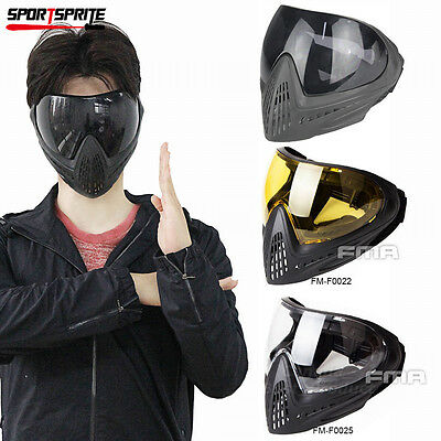 FMA F1 Tactical Paintball Outdoor Safe Anti-fog Protective Goggle Full Face Mask