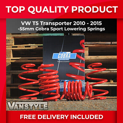 Vw T5 Transporter 2010-15 Cobra Lowering Springs -55Mm Sports Performance Lower
