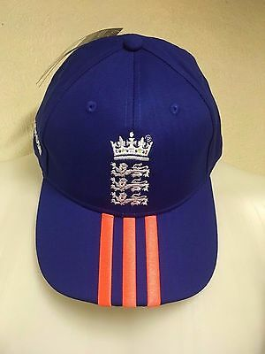 England Cricket Royal Blue Training Cap By Adidas Size Adults Brand New With Tag