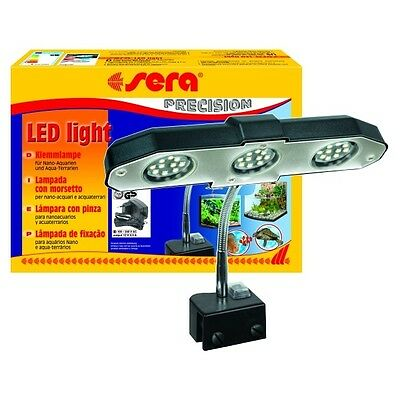 Sera LED light 3 x 2 Watt Lampe à pince pour Nano Aquariums et Terrariums