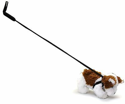 Loveable Plush Pet Dog Soft Toy On Lead ~ Brown And White Dog ~ Design Varies