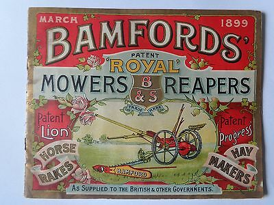 BAMFORDS booklet / brochure 1899 MOWERS & REAPERS RARE VINTAGE ANTIQUE