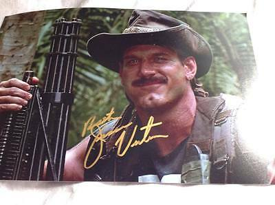 Predator Hand Signed Jesse The Body Ventura 12 X 8 Photo Wwf Blaine Coa
