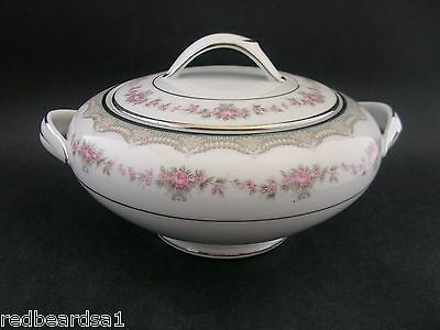 Noritake Glenwood Vintage China Lidded Sugar Bowl Round 5770M 181393 Japan c1950