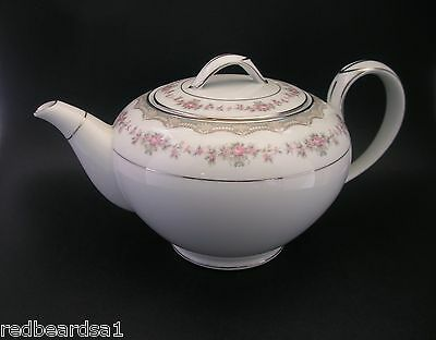 Noritake Glenwood Vintage China Tea Pot Round 5770 181393 Japan c1950s